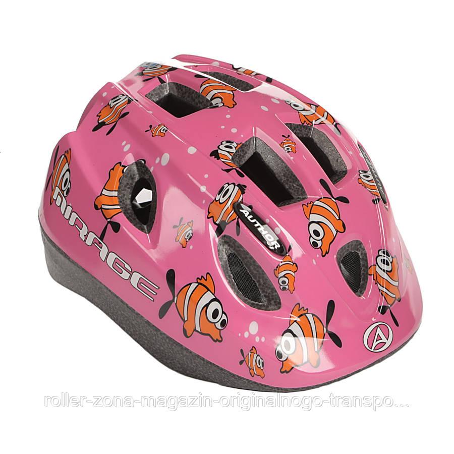 Шлем Mirage, розовый с рыбками, размер 48-54 cm