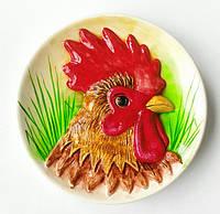 """Голова петуха"" декоративная тарелка подарок на Новый год символ года"