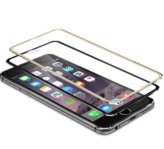 3D  Закаленное Стекло с металическим ободом для Apple iPhone 6 6 S