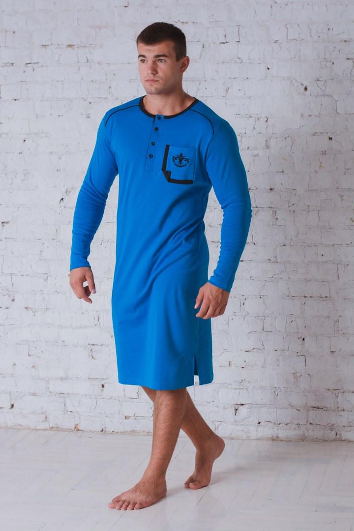 Сорочка мужская бирюза 701
