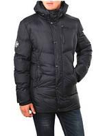 Мужской теплый пуховик RLX POLO Ralf Lauren. Черная удобная куртка на зиму. Модный пуховик. Код: КБН148