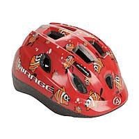 Шлем Mirage, красный с рыбками, размер 48-54 cm, фото 1