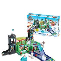 Детский набор с героями мультфильма Щенячий Патруль, парковка, зима. Парковка, гараж, Paw Patrol ZY-640