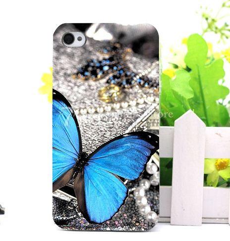 Эксклюзивный силиконовый чехол панель накладка для Iphone 6 / 6s с картинкой Бабочка