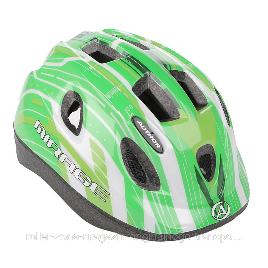 Шлем Mirage, зелено/белый, размер 48-54 cm