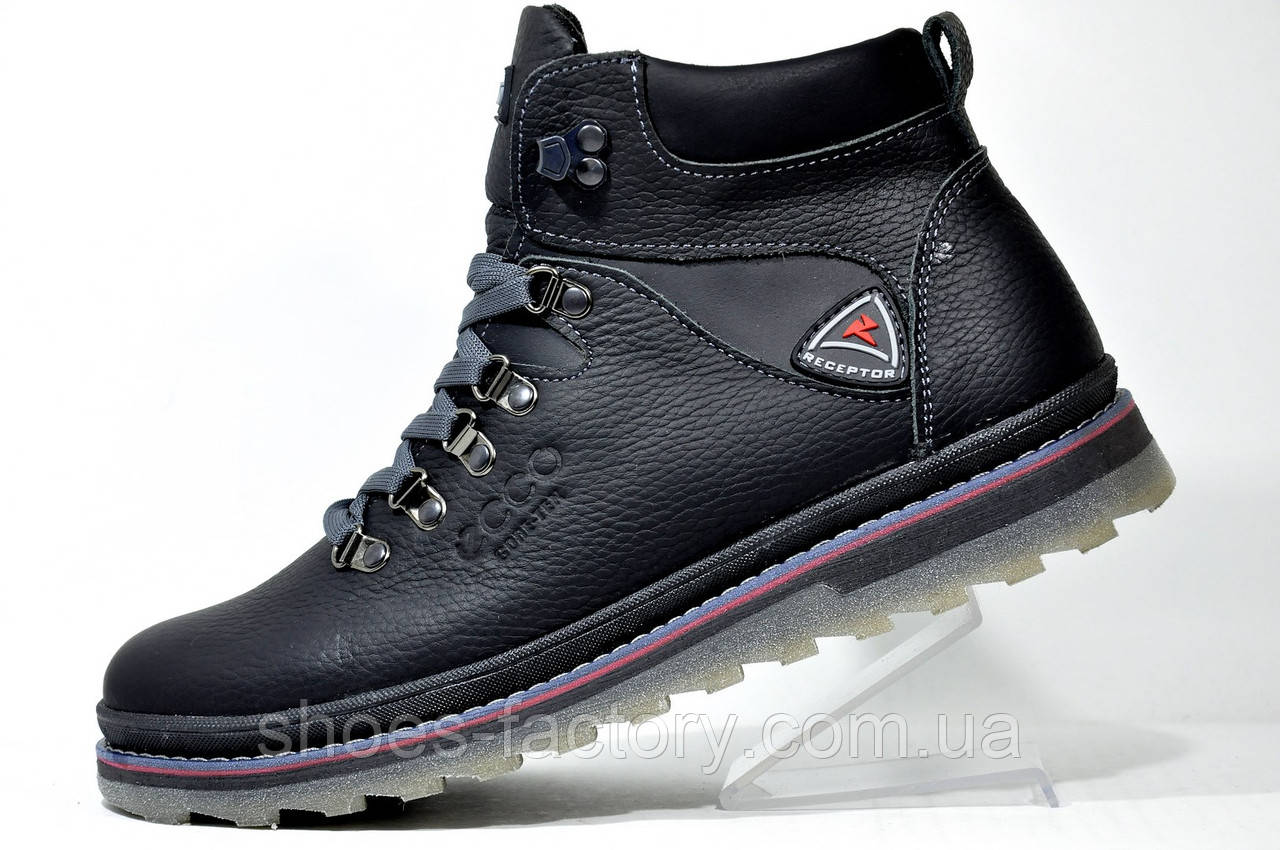 Ботинки в стиле Ecco мужские, зимние c мехом