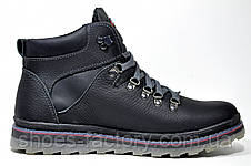 Ботинки в стиле Ecco мужские, зимние c мехом, фото 3