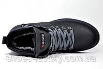 Ботинки в стиле Ecco мужские, зимние c мехом, фото 2