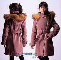 Очень красивое кашемировое зимнее пальто для девочки