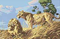 """Набор алмазной вышивки """"Африканские львы"""""""