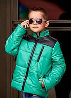 """Теплая зимняя куртка для мальчика """"Hero"""" с капюшоном и карманами (2 цвета)"""