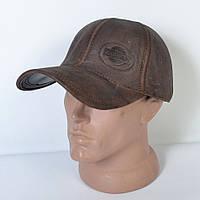 Мужская модная кожаная теплая кепка на флисе с ушками - Nissan
