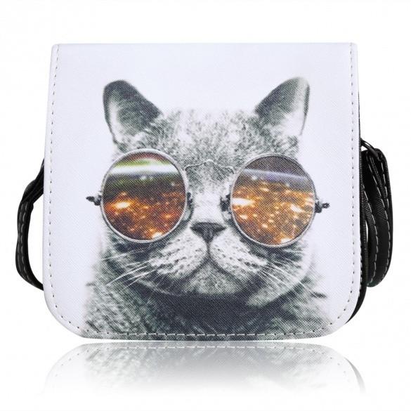 Женская маленькая сумочка с Котом в очках