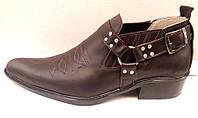 Полуботинки-казаки мужские Broni кожаные черные, коричневые B0019