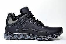Зимние мужские ботинки в стиле Ecco, Кожаные, фото 3