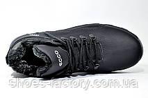 Зимние мужские ботинки в стиле Ecco, Кожаные, фото 2