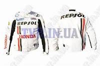 """Мотокуртка текстиль   """"REPSOL""""   (mod:1, size:XL, белая)"""