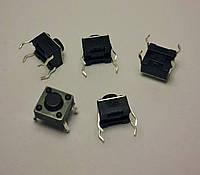Кнопка тактовая 4-pin 6 X 6 X 5 мм. 1 шт