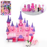 Замок SG-2977 (10шт) принцессы,33-33-12см,муз,св,мебель,фигурк,карет,на бат-ке,в кор,39-49,5-12,5см