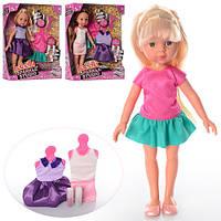 Кукла с нарядом R105 (36шт) 31см, платье 2шт, блеск, наклейки, 3 вида, в кор-ке, 26,5-34-8,5см