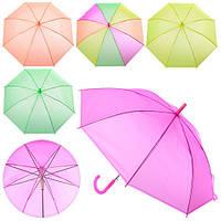 Зонтик детский MK 0858 (60шт) длина61см,трость76см,диам.94см,спица53см,клеенка,5ветов