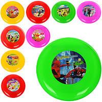 Летающая тарелка M 2901 (192шт) 23см, пластик,микс видов(WP,СП,DP,DSM,FR,B10), в кульке, 23-23-2см
