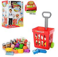 Детский магазин с кассовым аппаратом продукты (27 деталей)