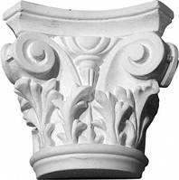 Капитель колонны с узором. Интерьер, фасад декоративная лепнина