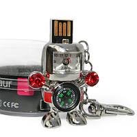 Флешка 8 Gb металл Робот с часами и компасом  KMF-0715