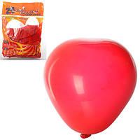 Шарики надувные MK 0008 (200шт) 12 дюймов, яркий, сердце, красный, 25шт в кульке, 14-19-2см