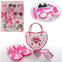 Набор аксессуаров YBE8813-04 (54шт) обувь, сумка, очки,аксессуары, на листе, 43-31,5-6см