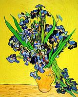 """Картина по номерам «Идейка» (КНО2013) художественный творческий набор """"Ирисы в вазе"""" (Винсент ван Гог)  40x50 см"""