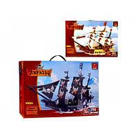Конструктор Пиратский корабль 2 вида 692 детали Ausini 27903-4