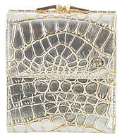 Компактный лаковый элитный женский кошелек с кожи высокого качественный Sergio Tacchini art. 29080 золото