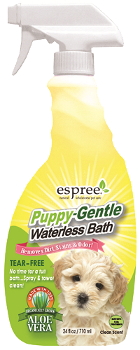ESPREE Puppy-Gentle Waterless Bath Спрей для експрес-чищення чутливої шкіри і шерсті цуценят 710мл