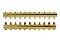 Распределительный коллектор  Danfoss, Дания, Распределительный, 11 контуров, FHF, без ротаметров