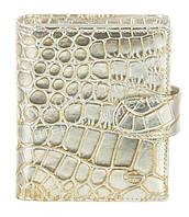 Маленький элитный женский кошелек с визитницей из кожи высокого качественный Sergio Tacchini art. 29069 золото