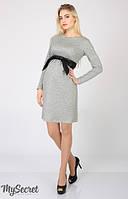 Платье для бременных и кормящих мам Orbi серый меланж 2-в-1