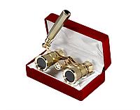 Бинокль 3x25 - Театральныи (gold)+подарок или бесплатная доставка!