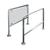 Ограждение стационарное со стеклом, длина от 0,5м до 1м