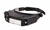 Наголовник специальный - лупа бинокулярная 81007 с подсветкой и зеркалом+подарок или бесплатная доставка!