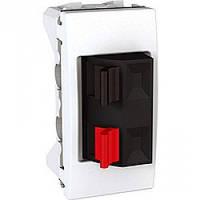 Розетка Schneider-Electric Unica аудио 1-модуль белый (MGU3.487.18)
