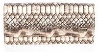 Лаковый женский кошелек из кожи высокого качественный DEKESI art. YS2491-H835-8 змеиный узор