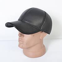 Кожанная теплая кепка на флисе мужская модная с ушками - 29-526
