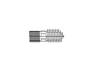 Шпилька сантехническая (винт/шуруп)  цинк белыйМ6х80