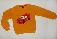 Джемпер для мальчика Тачки Начес Оранжевый  Рост 86-92 см