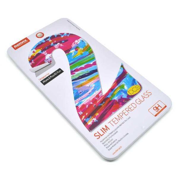 Стекло 0.2mm Remax Alu Double 2*Tempered Glass iPhone 6 Plus