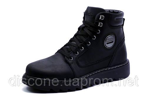 Ботинки зимние BBP, мужские, на меху, натуральная кожа, черные