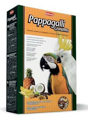 Padovan GRANDMIX PAPPAGALLI  Комплексный корм для крупных попугаев (амазон, жако, какаду, ара) 0.600кг