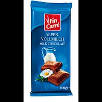 Молочный шоколад Fin Carre Alpen- Vollmilch- с альпийским молоком